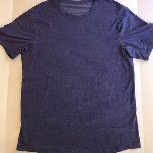 T Shirt Tee PURPLE Synthetic L Crew Neck LOGO Work